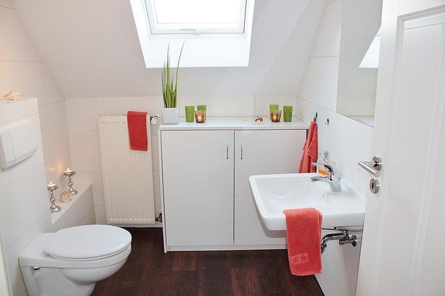 Wystrój łazienki i toaleta podtynkowa