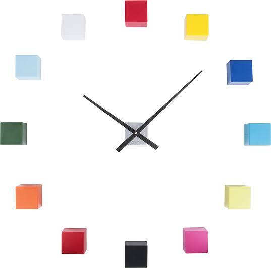 kolorowy zegar ścienny